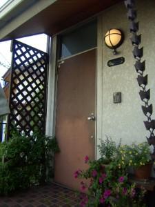 ランマ付きの玄関ドア交換