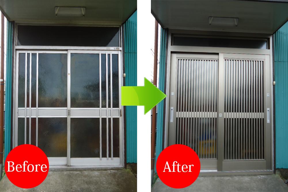 玄関成功事例Before-After4408