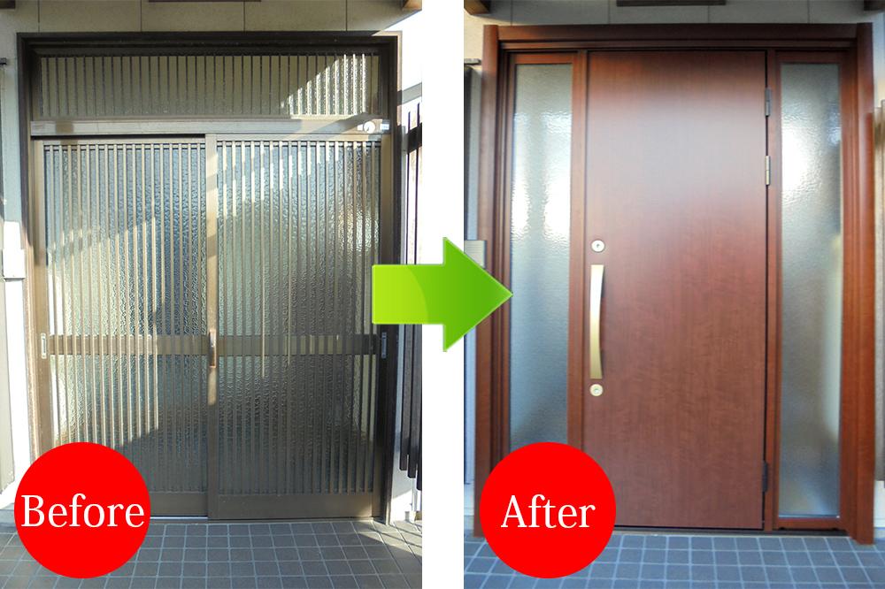 玄関リフォーム施工事例Before-After-4500