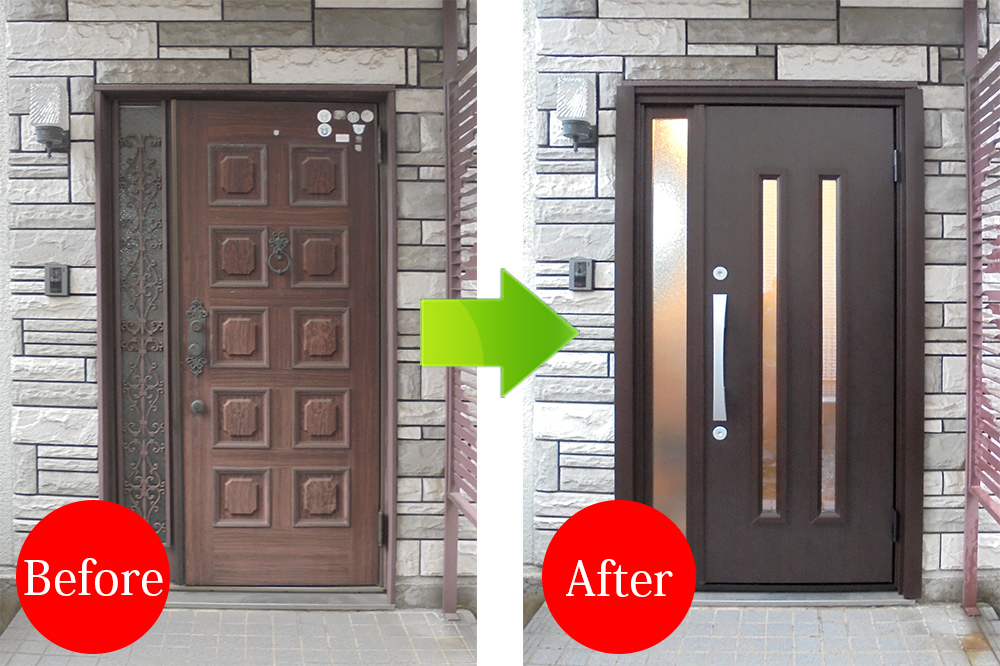 玄関リフォーム施工事例Before-After20150325-5