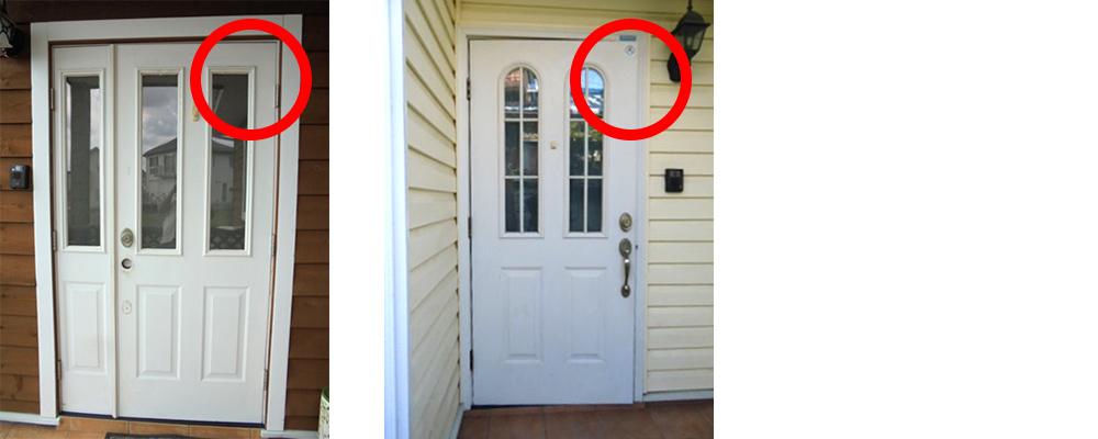 輸入玄関ドア-子ドアが動く場合