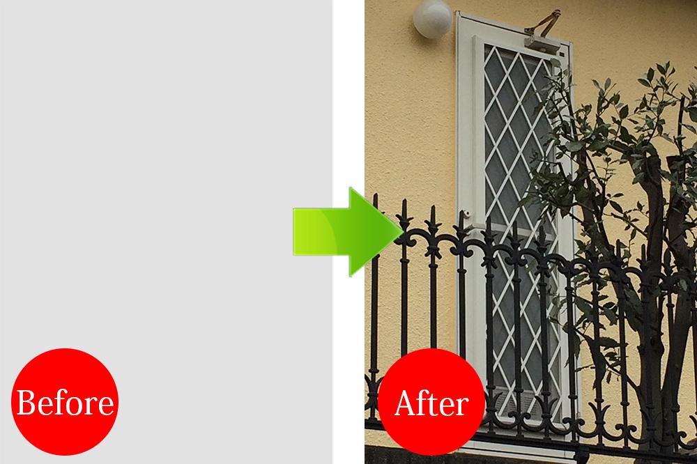 玄関リフォーム施工事例Before-After20150325-8勝手口ドアの交換