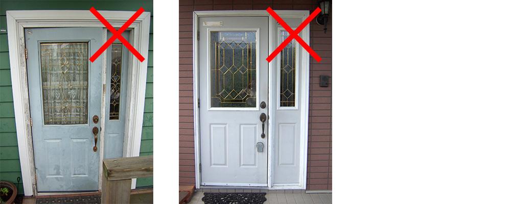輸入玄関ドア-Fix部が設置されている