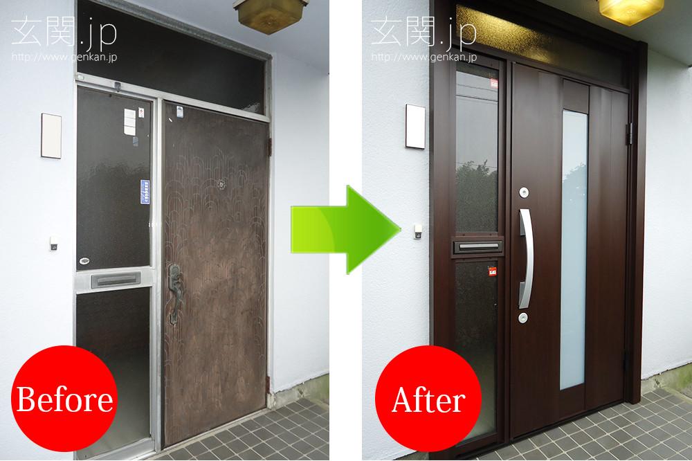 玄関リフォームの施工事例201507−08