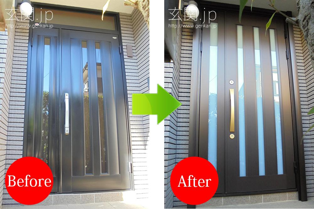 三協アルミの玄関カバー工法によるリフォーム事例_20151120−08