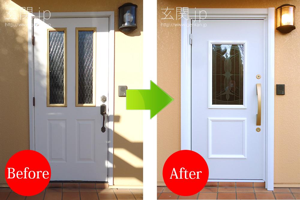 玄関ドア交換の施工事例20160115_02輸入ドア