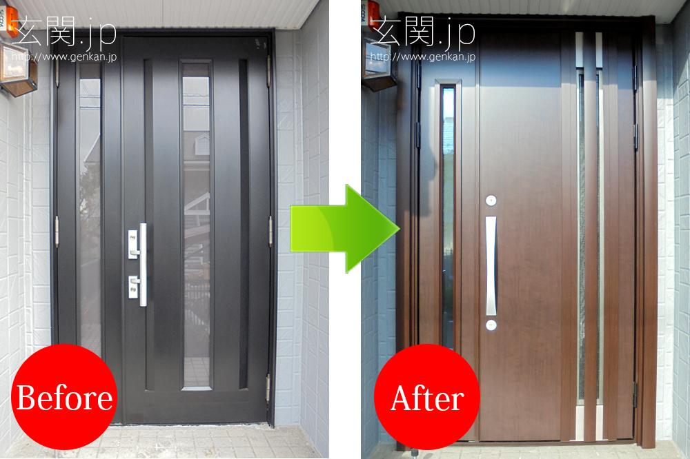 玄関ドア交換の施工事例20160115_01