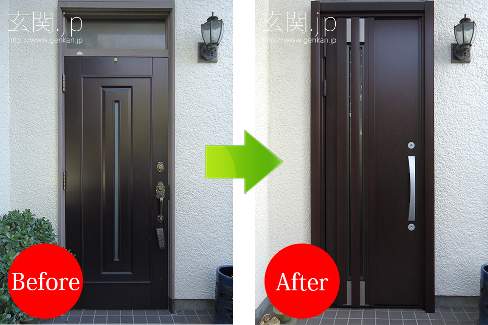 玄関ドア交換。ドアが新しくなりました!