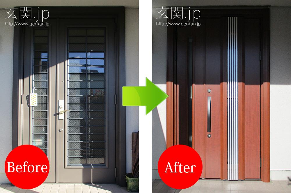 採風機能付きの玄関ドア