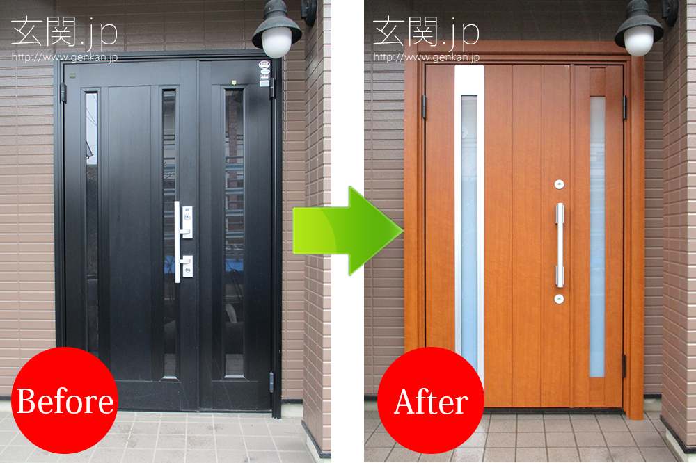 木造住宅の玄関ドア交換施工例