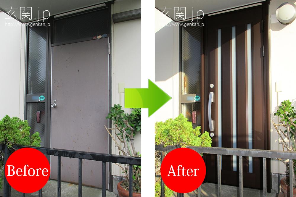パナホームの玄関ドア交換リフォーム
