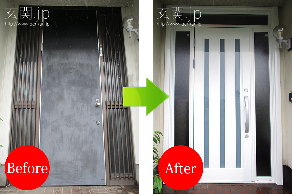 積水ハウスの玄関ドアの交換リフォーム