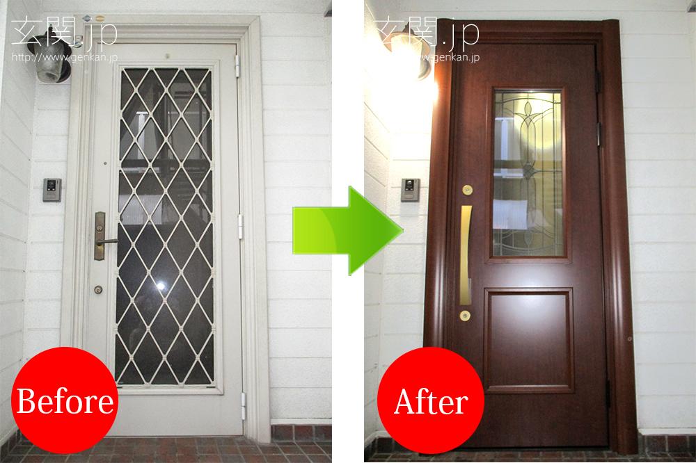 積水ハウスの玄関ドアを交換
