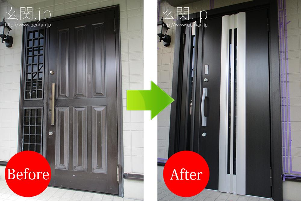 リクシル リシェント2 13型の玄関ドア交換