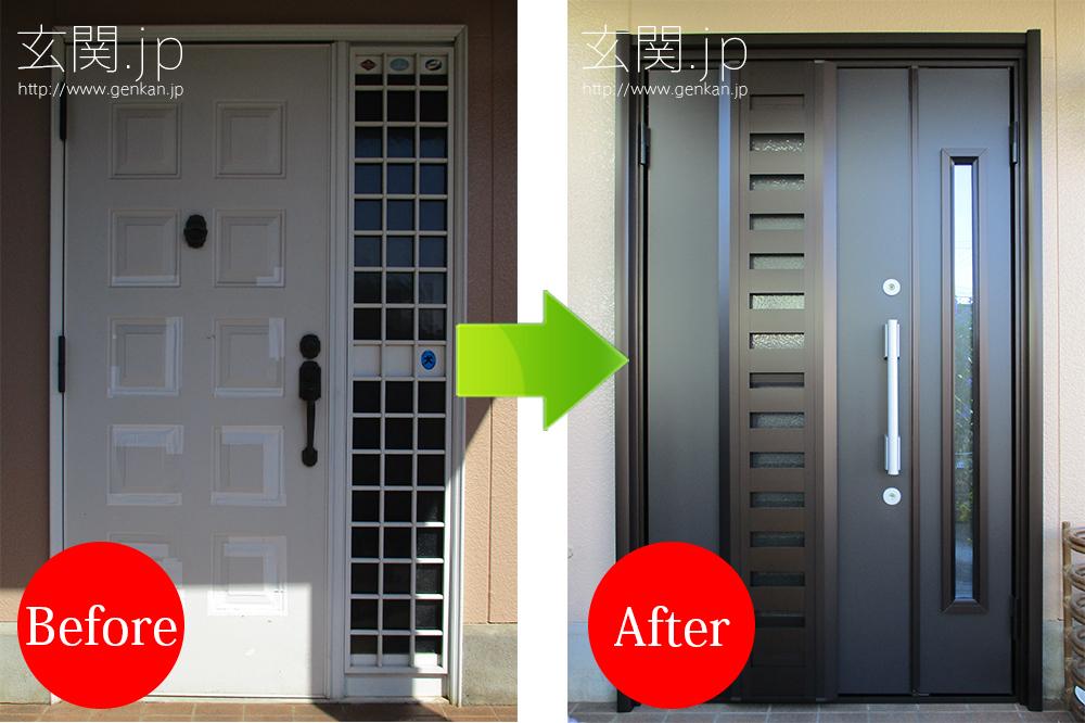 パナホームの玄関ドアのリフォーム施工例