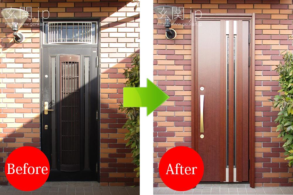 三井ホームの玄関ドア交換