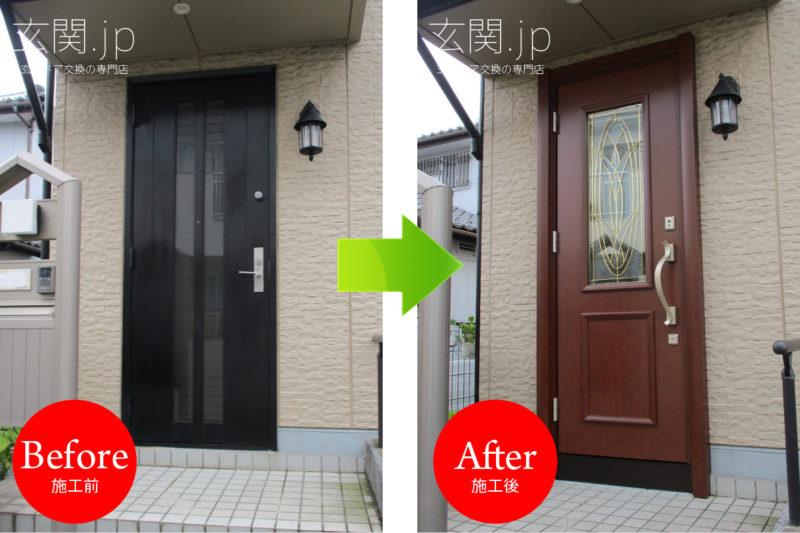 千葉県E様邸ノバリス【G95】ステンドグラス片開きドア