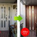 東京都A様邸ノバリス【A25】ダークウォールナット親子ドア