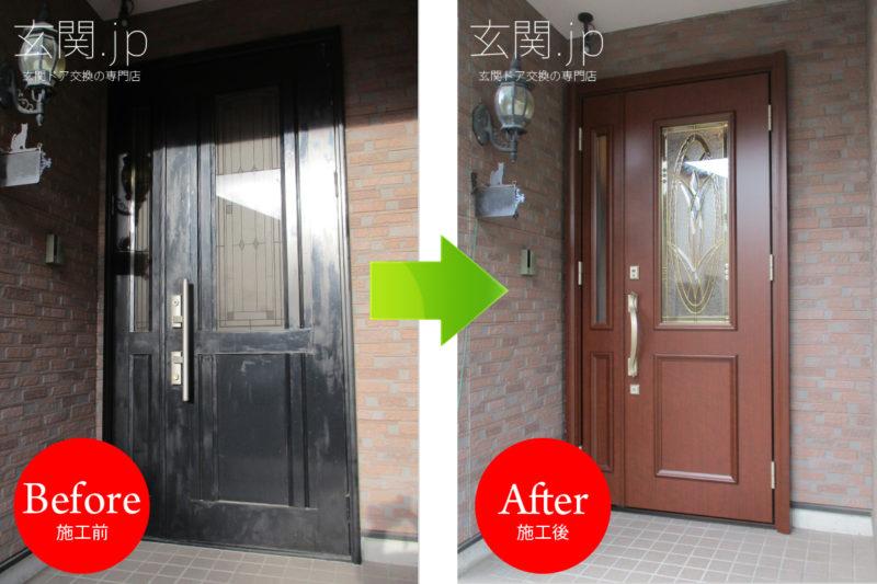 栃木県Y様邸ノバリス【G95】ステンドグラス親子ドア